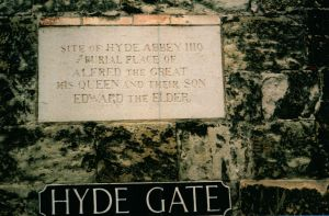 Hyde Abbey Plaque