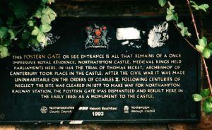 Postern Gate Plaque